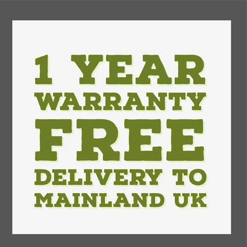 if you buy any apple mac from apple-bay you get 1 year warranty and free delivery to mainland uk